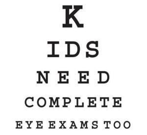 kids need eye exams too